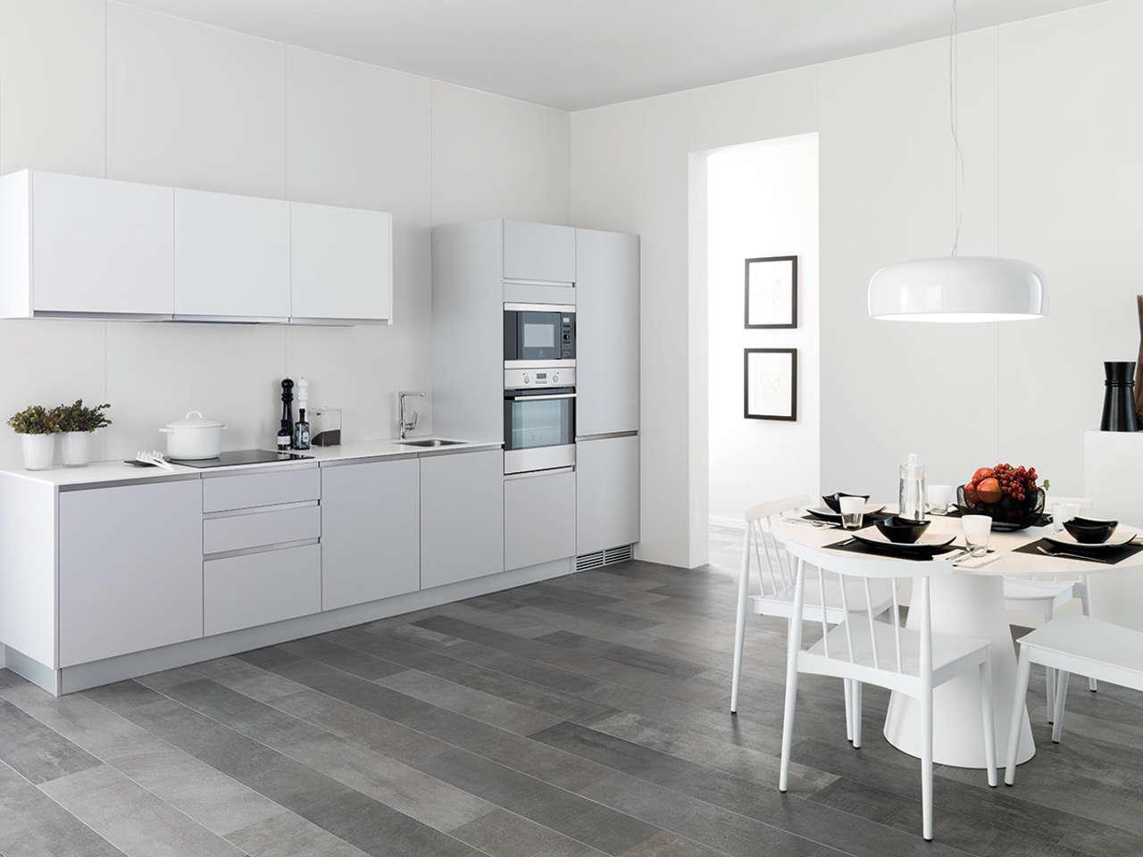 Urbatek porcelanosa revestimiento xlight 05 basic snow for Pavimentos para cocinas
