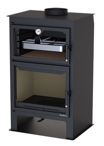 Estufa de leña con horno EH8000